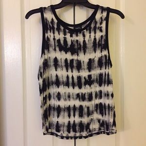 Black and white Rue 21 tank top
